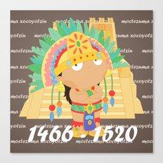 Moctezuma Xocoyotzin Canvas Print