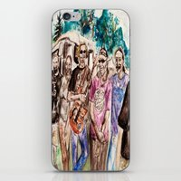 grateful dead iPhone & iPod Skins featuring Dark Star Orchestra Grateful Dead Painting by Acorn