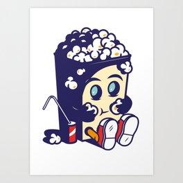 Movie Fan Popcorn Monster Art Print