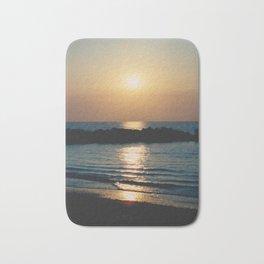 Sunset Ocean Bliss #6 #nature #art #society6 Bath Mat