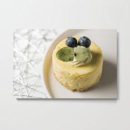 Mini New York Cheesecake Metal Print
