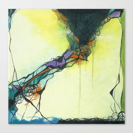 Glass and Smoke  - Square Abstract Expressionism Paintng Canvas Print