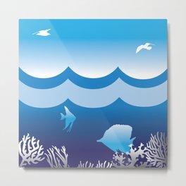Sea an Sky Metal Print