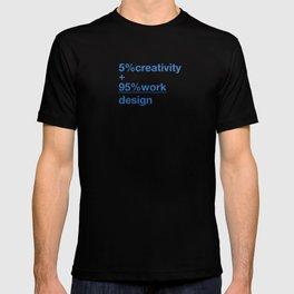 5% creativity + 95% work = design T-shirt