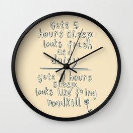 Roadkill Rester Wall Clock