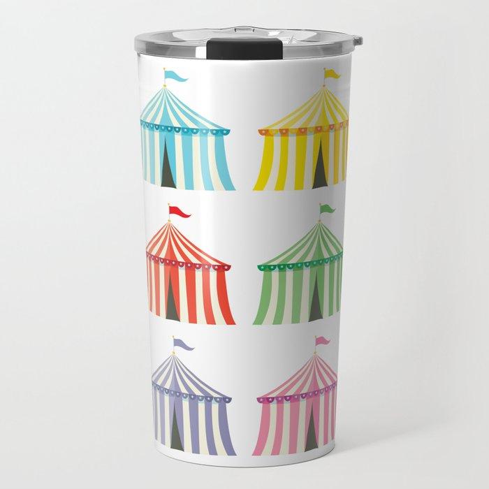 colourful circus tents Travel Mug