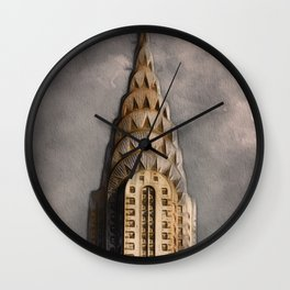 The Chrysler Building Wall Clock