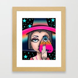 Witchy Woman, Ouija Witch Art, Gypsy Stars Framed Art Print