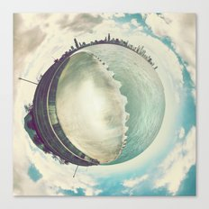 Tiny Planet Chicago Canvas Print