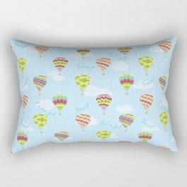 Hot Air Balloons Pattern Let's Go Travel Rectangular Pillow