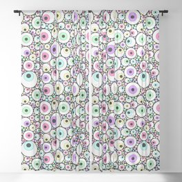 Candy Pastel Eyeball Pattern Sheer Curtain
