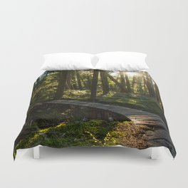 North Shore Trails in the Woods Duvet Cover