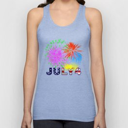 America 4th of July Fireworks Unisex Tank Top