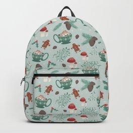 Cottagecore Christmas Sage Backpack