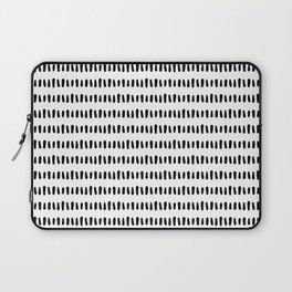 Bold Pattern Black and White Laptop Sleeve