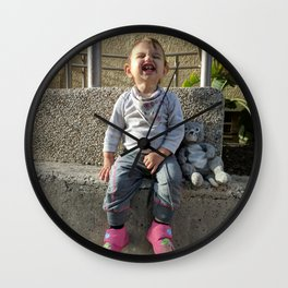 Kid and Friend Wall Clock