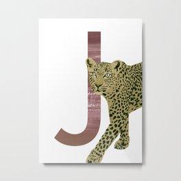 J - Jaguar Metal Print
