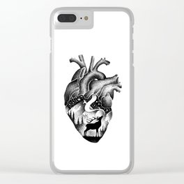 WILD HEART Clear iPhone Case