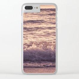 Atlantic Ocean Waves 4195 Clear iPhone Case
