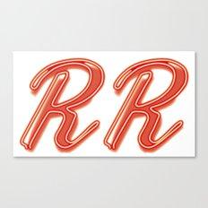 RR Diner Neon Canvas Print