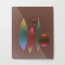 Geometry aesthetics 1 — Warm Timber Metal Print