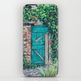 Vinyard Door iPhone Skin