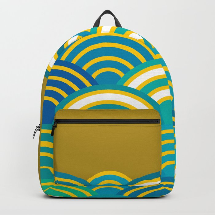 Seigaiha or seigainami literally means wave of the sea. Merry Christmas card Backpack