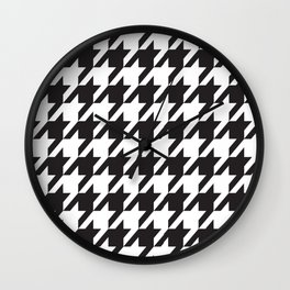 Houndstooth Retro #77 Wall Clock