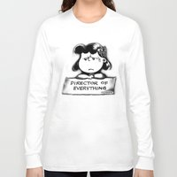 psych Long Sleeve T-shirts featuring Director and psych redirector of everything. Ms. Lucy by Kristy Patterson Design