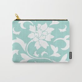 Oriental Flower - Limpet Shell Circular Pattern Carry-All Pouch