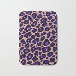 purple cheetah Bath Mat