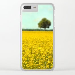 Yellow Fields Clear iPhone Case