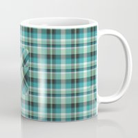 Plaid Pocket - Teal Blue/Green Mug