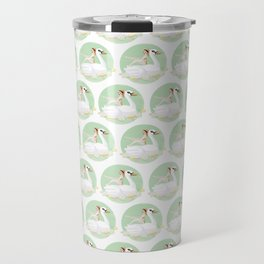 Summer Pool Party - White Swan Float F Travel Mug