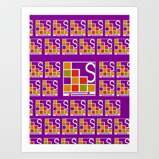 Logo Pattern Art Print