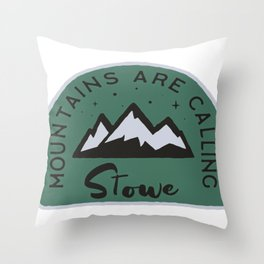 Stowe Mountains are Calling Throw Pillow