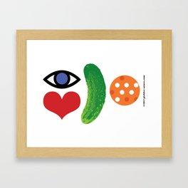 Eye Love Pickleball Rebus #2 Framed Art Print