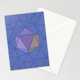 poligon pattern texture Stationery Cards