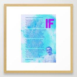 If BY RUDYARD KIPLING v2 Framed Art Print