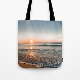 seaside sunrise Tote Bag