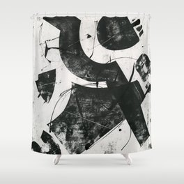 Lock 29 Black and White Shower Curtain