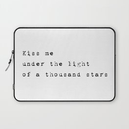 Kiss me under the stars - Lyrics collection Laptop Sleeve