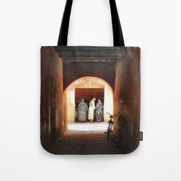 Women at the market Tote Bag