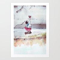 skate Art Prints featuring Skate by Nuez Rubí