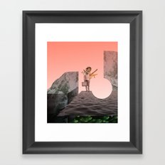 atmosphere 5 · Searching for Resources Framed Art Print