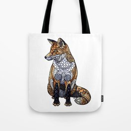 Stained Glass Fox Tote Bag