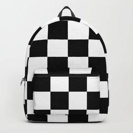 Checkered Pattern: Black & White Backpack
