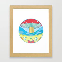 Happy fungus Framed Art Print