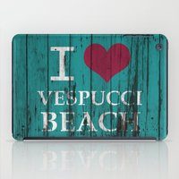 grand theft auto iPad Cases featuring Los Santos I love Vespucci Beach Grand Theft Auto by KeenaKorn