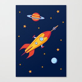 Spaceship! Canvas Print